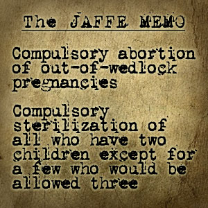 compulsory abortion jaffe
